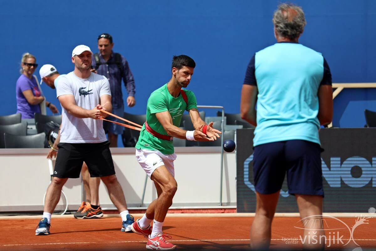 djokovic zverev tenis adria tour trening 18 06 2020 4 - FOTO Trening Novaka Đokovića i Aleksandera Zvereva na Višnjiku